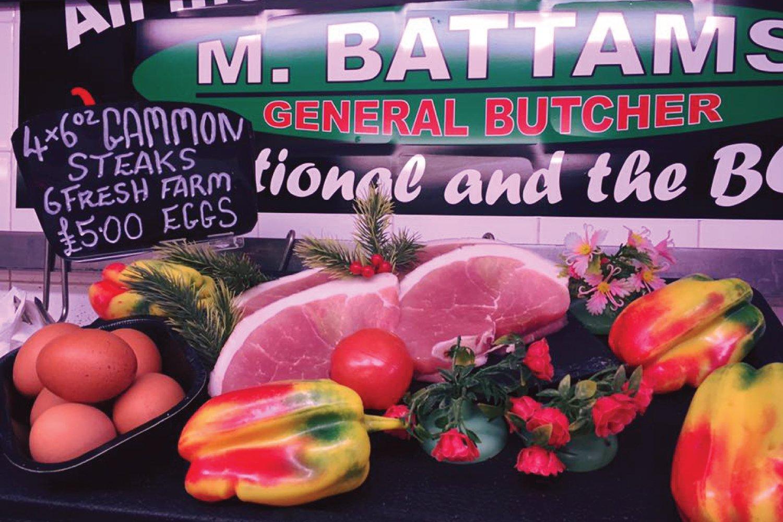 Gammon Shropshire Oswestry M Battams Butchers