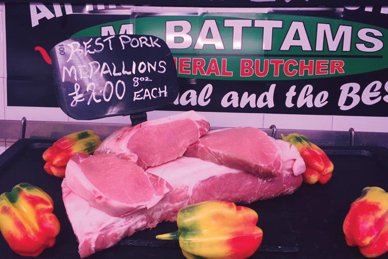 M Battams Butchers Oswestry Shropshire Pork Steaks